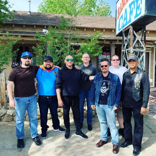 Joseph Aritelli-Newman (left) and members of Los Angeles Harbor Lodge No. 332 and North Hollywood lodge No. 542 on their road trip to Lake Tahoe for the master and wardens retreat in May 2018.