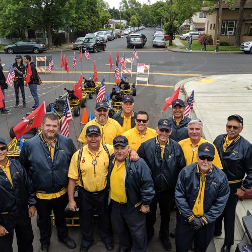 Ben Ali Shriners preparing their go-karts for a parade in Vacaville. Photo by Jacob Cummings